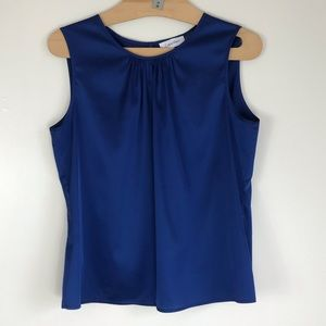 Calvin Klein Sleeveless Blue Career Top Medium